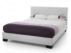 Serene Roma White Faux Leather Bed Frame