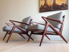 Pair of Danish Mid Century Modern Lounge chairs by by DenMobler, $4495.00