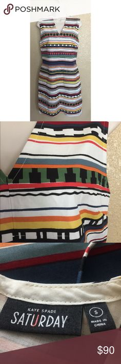 Kate Spade Saturday Multi Designed Dress Size: Small. Condition: No defects. kate spade Dresses