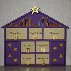 Thanks to Katherine , we have a new custom this Advent. We have been busily preparing our O Antiphon House so that it will be ready by Dece...