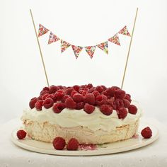 Yummy cake with cute bunting.
