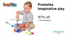 Help me drop the price of the Brackitz Inventor 44 Piece Set to $3.99 (87% off). This award-winning family of construction toys is praised by kids, parents, and teachers alike for providing a more satisfying, educational, and open-ended building experience, unrestricted by step-by-step instructions. With Brackitz, the possibilities truly are endless!