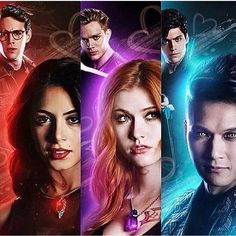 Sizzy, Clace, e Malec - Shadowhunters