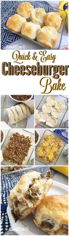Quick and Easy Cheeseburger Bake Casserole Recipe WINNER WINNER, Easy Cheeseburger Bake DINNER! meat recipes easy dinner ideas kids Quick and Easy Cheeseburger Bake Casserole Recipe Weight Watcher Desserts, Fast Dinners, Weeknight Dinners, Love Food, Cooking Recipes, Cooking Kids, Easy Cooking, Healthy Cooking, Cookies