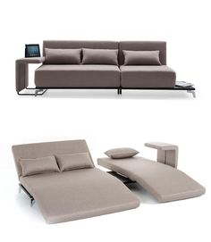 Super versatile fold-out couch with a contemporary design. This would be perfect for my house.