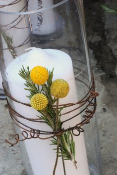 Candle/Billy Buttons idea