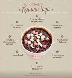 Brownie en taza                                                       …