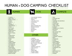 Camping with dogs is one of our favorite pastimes. We've developed a printable camping checklist to help make sure you don't forget any of the essentials! Happy Camping!