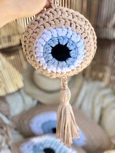 Evil eye wall hanging with tassels Evil eye wall decor evil | Etsy