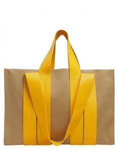 Diy Bag Handles Beach Totes Ideas For 2019 Yellow Purses, Yellow Handbag, Diy Bag Handles, Couture Cuir, Fabric Bags, Beach Tote Bags, Tote Handbags, Backpack Bags, Fashion Bags