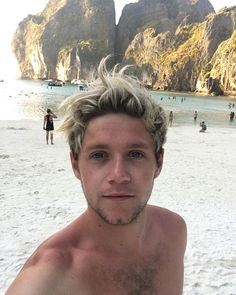 One Direction's Niall Horan on Maya bay .