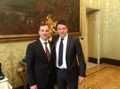 Con @Matteo Renzi durante las consultas para la formación del próximo gobierno italiano.