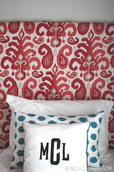 DIY fabric covered panels (upholstered headboards) http://emilyaclark.com/2013/07/diy-fabric-panels-if-you-need-headboard.html