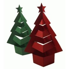 Silhouette Design Store - View Design #52534: easy fold christmas tree