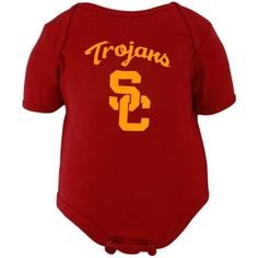 USC Trojans Logo Infant Creeper - Cardinal