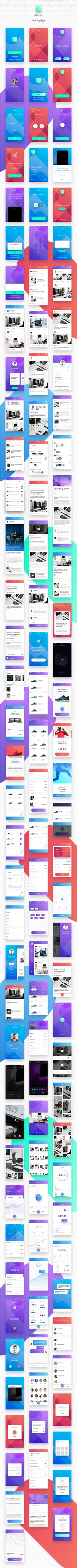 Flok iOS UI Kit - Must have UI Kit with 110+ iOS screens in 19 categories