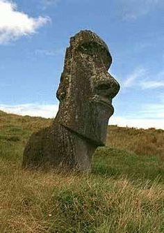 easter moai stone
