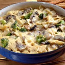 Bow Ties and Broccoli Mushroom Alfredo.