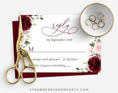 Invite friends and family in style and set the tone for your special day with this charming wedding invitation suite! #printable #wedding #reception #invitations #RSVP #details #enclosurecard #weddinginvitationsuite #weddinginvitationset #weddinginvitations #weddingstationery #SHdesigns Reception Invitations, Wedding Invitation Sets, Invitation Suite, Wedding Stationery, Burgundy And Blush Wedding, Burgundy Flowers, Pink Flowers, Invite Friends, Some Text