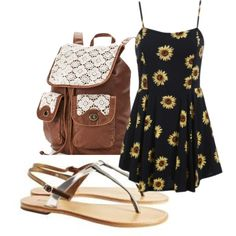 I have:sandals,daisy dress