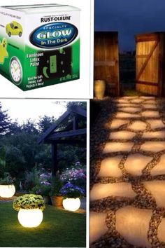 Rustoleum Outdoor Glow in the dark paint.