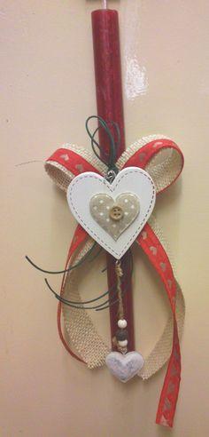 Λαμπάδα ξύλινη καρδιά Easter Ideas, Easter Crafts, Candles, Spring, Vintage, Decorated Candles, Deco, Candy, Vintage Comics