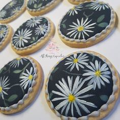 Handpainted Daisy Biscuits posted to Kent. Swipe to see them packaged with ribbon. Flavour- Shortbread with Raspberry royal icing. @alexandra.ky.w Like our emails it only took me 3 months . #allthingscupcakesigaccount #cakes #cupcakes #biscuit #decoratedcookie #decoratedbiscuits #handpaintedcake #daisy #accrington #blackburn #manchestercakes #weddingsfavours #weddingbiscuits #wedding #asianwedding #muslimweddings #amazingaccrington #cakebakeoffng #modernweddingcakes #biscuits #l4l #small...