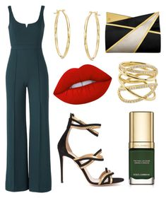 """""""Untitled #14"""" by andela-balazova on Polyvore featuring Donna Morgan, Aquazzura, Jill Haber, Lana, Lime Crime, Dolce&Gabbana and jumpsuits"""