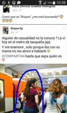 memes capturas de pantalla comentarios de el brayan y chica del metro