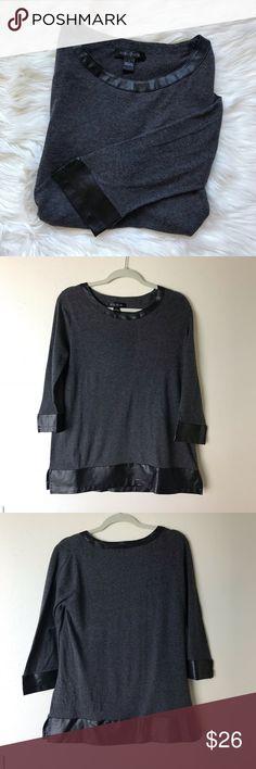 802d4f53f836 August Silk Leather Cuffed Shirt August silk brand