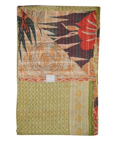 Look at this Handmade Kantha Throw #4473 on #zulily today!
