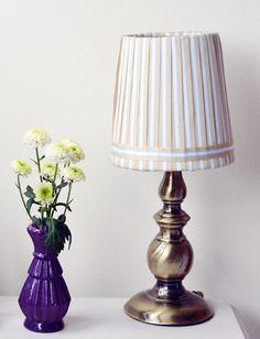 Ribbon lampshade DIY. crafting and home decor site, www.makingforliving.com