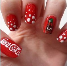 Coco-Cola nails