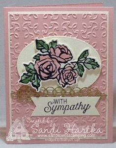 Petal Palette Stampin Up, Garden Trellis embossing folder Stampin up, sympathy card, thank you card, birthday card, get well card