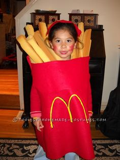 Cool Halloween Costume for a Child: Large Order of McDonald's French Fries...