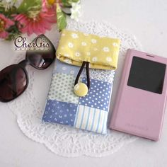 Cotton Fold over pouch sunglass pouch glass case smart by Chergis