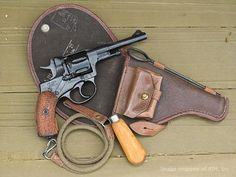 The Model 1895 Nagant Revolver. Save those thumbs & bucks w/ free shipping on this magloader I purchased mine http://www.amazon.com/shops/raeind   No more leaving the last round out because it is too hard to get in. And you will load them faster and easier, to maximize your shooting enjoyment.