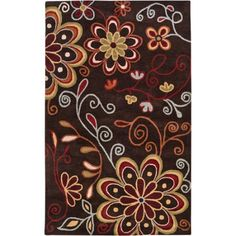 Art of Knot Tuskegee Hand Tufted Wool Area Rug, 5' x 8', Brown