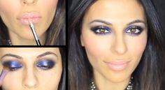 Blue Smokey Eye Tutorial! http://karasglamourblog.blogspot.com/2013/09/blue-smokey-eye-tutorial.html