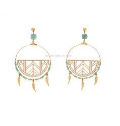 Boucles d oreille collection Amazone printemps été 2015. Bijoux fantaisie, bijoux rétro La Petite Fabric de Bijoux #créateur #bijoux #bijouxrétro #madeinfrance