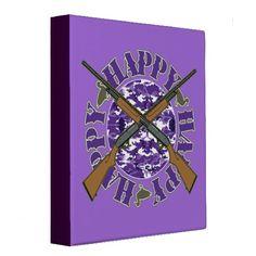 Customizable Happy Purple Camo Shotguns Binder