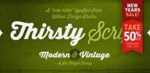 Thirsty Script ... simple and modern but pretty