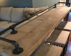 People who have favorited Rustic Gray Reclaimed Barn Wood Sofa Bar Table - - Restaurant Counter Community Cafe Coffee Conference Office Meeting Pub High Top by Bar Table, Wood Bars, Rustic Sofa, Patio Bar Set, Patio Design, Barn Wood, Wood Sofa Table, Wood Bar Stools, Reclaimed Barn Wood