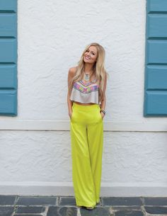 Fun outfit - neon pants
