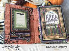 Rare Oddities Tri-Fold Brag Book, Rare Oddities, by Danielle Copley, product by Graphic 45, photo 3