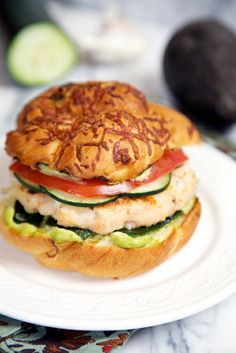Baja Shrimp Burger Recipe with Avocado Aioli