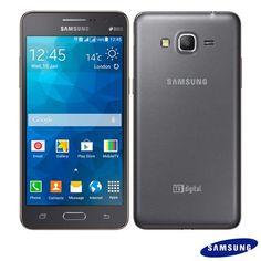 """Smartphone Samsung Galaxy Gran Prime Duos TV Cinza com Tela 5"""""""