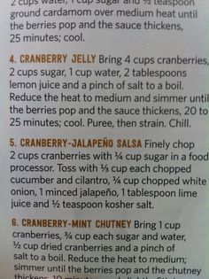 Cranberry jelly & cranberry jalapeño salsa Jalapeno Salsa, Hors D'oeuvres, Jelly, Berries, Lemon, Kitchens, Bury, Jelly Beans, Blackberry