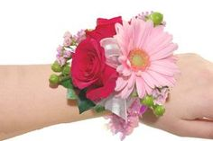 Roses & Gerbera Daisy Wrist Corsage (CBCCIT05) | Online Florist and Flower Store by Flower Patch