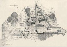 Massaro House, New York.  Frank Lloyd Wright. Origial plan: 1949. Construction: 2003-2007